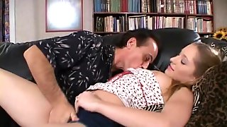 Crazy Uncle Eating Babysitter's Pussy