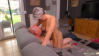 Chubby German Granny Fucks Her Husband During Mature Amateur Tape