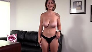 BACKROOM CASTING COUCH - Natural Big Tits Aubree Creampied Hard In 1st Casting