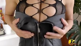Katerina Hartlova In Sexy Stockings And HighHeels Masturbate And Lactate On Toy