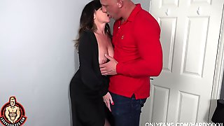 Lad Fucks His Mature Aunt And Cums Inside Her Shaved Hole