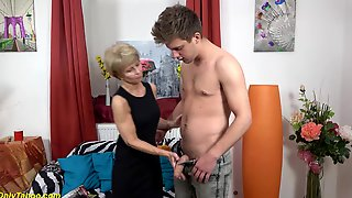 Skinny Extreme Sexy Granny Gets Rough And Deep Fucked By Her Big Cock Friend