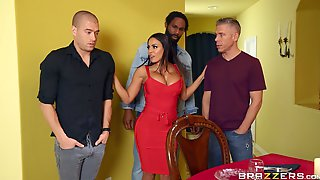 Aroused MILF Ass Fucked In A Rough Scene By Three Naked Men