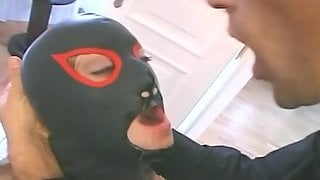 Sexy Girl In Mask And Fishents Getting Fucked In The Ass