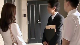 Asian Housewife Misa Kudo Is Being Fucked By Husbands Business Partner