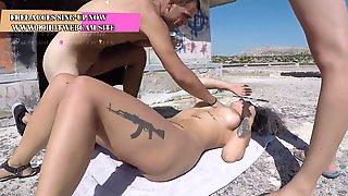 A Romanian Woman Nailed By 2 Greek
