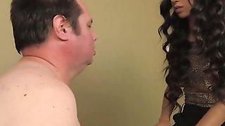 Kinky Mistress Jennifer Humiliates And Slaps That Submissive Slave Guy