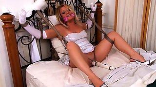 Helpless Mature Blonde Wife Made To Enjoy Intense Orgasms