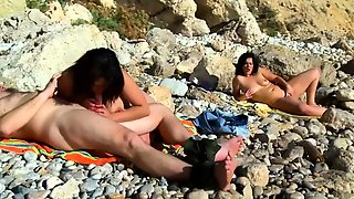 Slutty Amateur Wife Satisfies Her Need For Cock On The Beach
