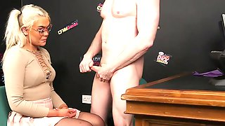Clothed Sex Grants This Busty Blonde A Good Facial
