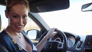 BIG ASS Cougar Mom Screwed By Car Repair Mechanic - Cum In Mouth