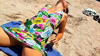 Sandy Ass N But Plug Adventure At Public Beach