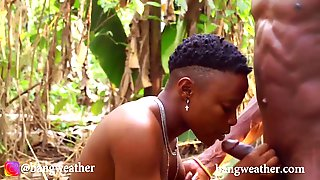 African Paramours Seen Banging In The Woods