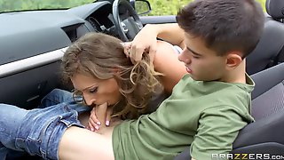 Sports Car Serves As A Sexual Playground For Horny MILF Ava Austen