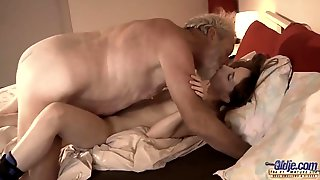 Skinny Perverted Teen Tina Blade And Old Man