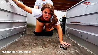 German Thickie Tramp AssFucked In Trailer