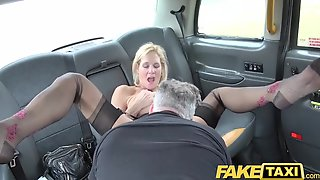 Super-Sexy, Ash-blonde Mature Is Deep-throating Spear In The Back Of A Cab, Before Getting Poked
