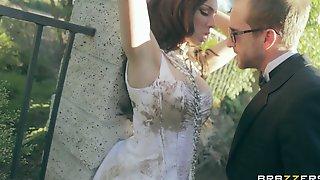 Lingerie Clad Bride Tiffany Tyler Fucked To Orgasm