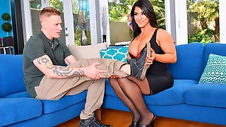 Impressive Busty Brunette Raven Hart Rides On A Big Dick With Love