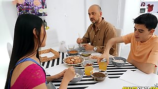 Dads New Asian Wife Turns Out To Be A Cock-starved Slut. Damn!