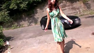 Asian Babe Gets Facial Cumshot Outdoor After Sucking Dick And Getting Fingered