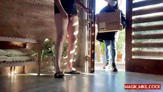 PART 1 - Pervert Flashing Naive Delivery Woman And She Helps Out