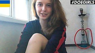 DoeGirls - Sienna Kim Petite Ukrainian Teen Fingers Her Wet Pink Pussy At Home
