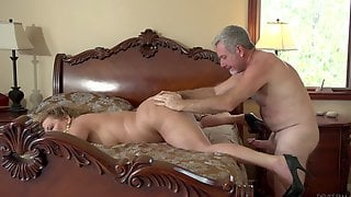 Frisky Old Couple Gives Over To Their Desires And Fucks Fantastically