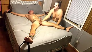 Hot Brunette Girl Makes A Friend Happy By Sucking On His Shaft
