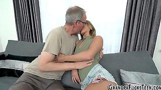 Teen Spermed By Gramps