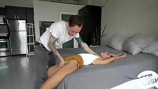 Skinny Doll Tries A Whole Lot Of Sexual Positions While Being Taped