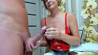 Lady Use Young Slave For Sperm Milking Dick Drain Balls Eat Semen Food Fetish