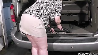Horny Boss Fucks Big Tits Working Woman