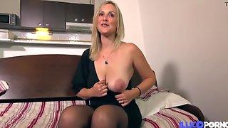 Hot Busty MILF First Porn Video