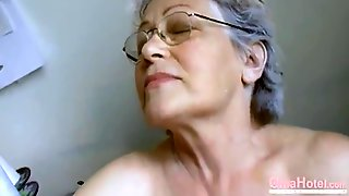 Grannys Hairy Pussy Filled With Adult Toys