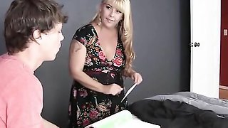 BBW Blonde Aunt Will Gladly Teach Her Teen Cousin About Sex And Lovemaking
