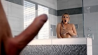 Showering Kylie Page Enchanted By Blurry Big Dick!