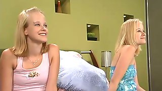 Cute Blond Girls Cali And Cherish Love The Fucking Machine