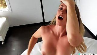 Busty Amateur In Thong POV Pounded