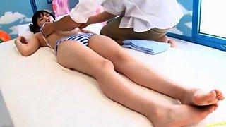 Japanese AV Model Getting Fucked During The Massage Session