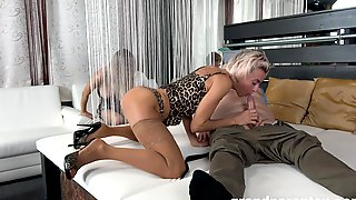 Appealing Blondes Give Head In Advance To Swap And Share Lovers