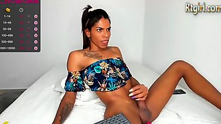 Slim Ebony Colombian Tgirl With Tattoos Camshows Solo