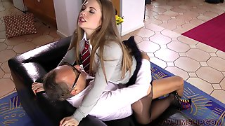 An Innocent Coed Hooks Up With An Older Guy After Class