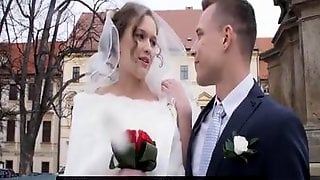 Lusty Bride Bangs Her Ex In Front Of The Groom For One Last Time