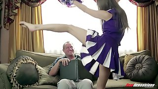 Cute Cheerleader Claims The Stepdad And That Lovely Young Woman Loves Sex