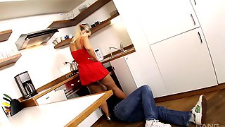 Mia Leone Takes Off Her Red Dress For A Shag With A Stallion