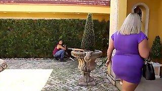 Curvy Housewife Kristin Kervz Is Fucked By A Horny Gardener