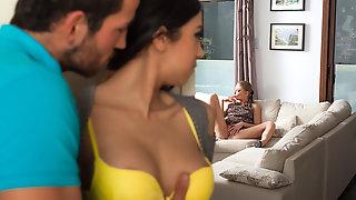 Open Minded Couple Enjoying Threesome FFM Sex