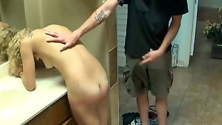 Blonde Lady Is Spanked With A Belt And Fucked