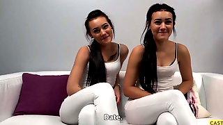 Amateur Twins Have Casting Sex